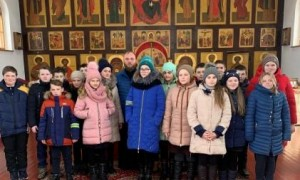 Беседа о святых воинах с бобравскими школьниками
