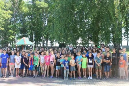 Встреча в летнем оздоровительном  лагере